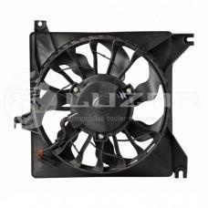 Мотор охлаждения радиатора 2190 с крыльчаткой и кожухом LUZAR