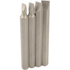 Набор вставок на ударную отвертку шлиц. 5,6,8,9мм 80мм сталь S2 профи АВТОДЕЛО