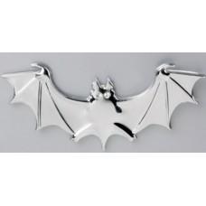 """Наклейка металлическая 3D """"Летучая мышь светлое серебро"""""""