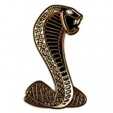 """Наклейка металлическая 3D """"Змея золотая"""""""