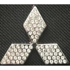 "Наклейка металлическая 3D ""Логотип Mitsubishi"""