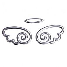 """Наклейка металлическая 3D """"Ангел малый серебряный"""""""