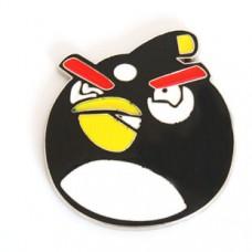 """Наклейка металлическая 3D """"Птица черная"""" Angry Birds"""