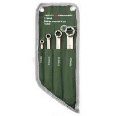 Набор ключей 4пр накидных TORX (E6xE8, E10xE12, E14xE18, E20xE24) ДЕЛО ТЕХНИКИ