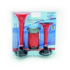 Сигнал звуковой воздушный RED 2-х рожковый + компрессор