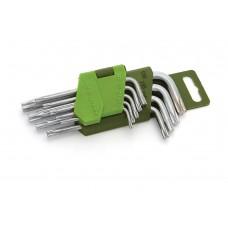 Набор ключей TORX 9шт короткие (Т10,15,20,25,27,30,40,45,50)
