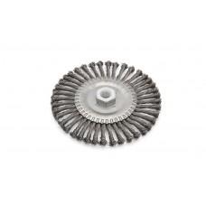 Корщетка проволочная для УШМ плоская крученая с резьбой м14 125мм