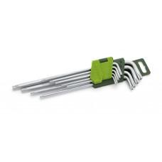 Набор ключей TORX 9шт с отв.длинные (Т10,15,20,25,27,30,40,50)