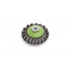 Корщетка проволочная для УШМ конусная крученая с резьбой м14 115мм