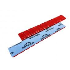 Грузы самоклеющиеся стальные с красным полимер. покрытием 5g х12 (50 шт/уп)