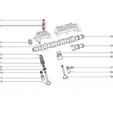 Шпилька М 8х 47х16 постели р/вала 08 малая